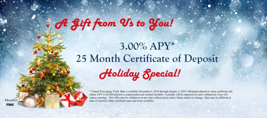 Holiday Special Certificate of Deposit